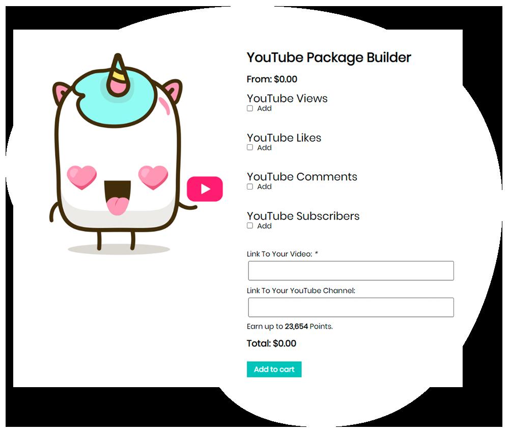 youtube package builder